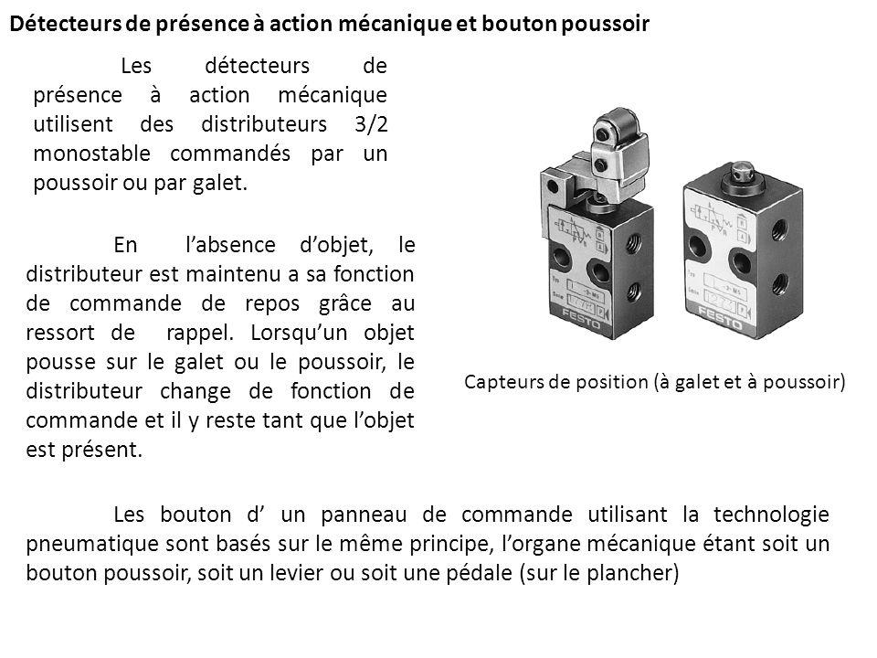 Détecteurs de présence à action mécanique et bouton poussoir