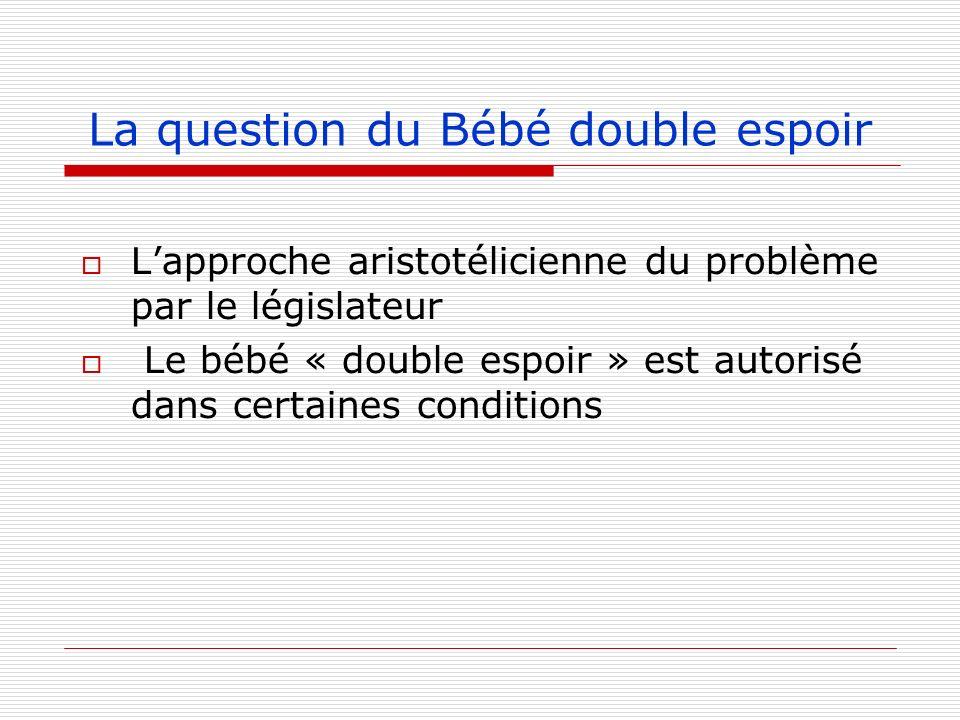 La question du Bébé double espoir