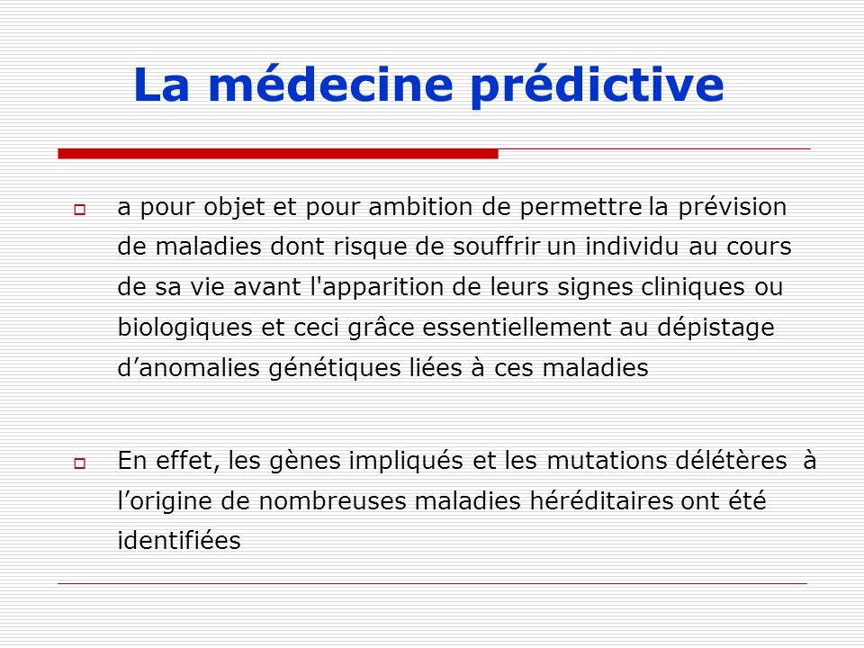 La médecine prédictive