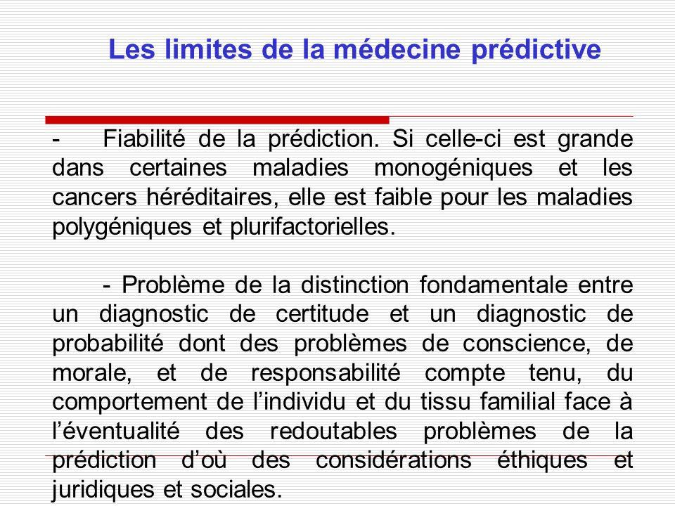 Les limites de la médecine prédictive