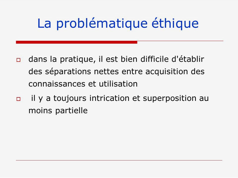 La problématique éthique