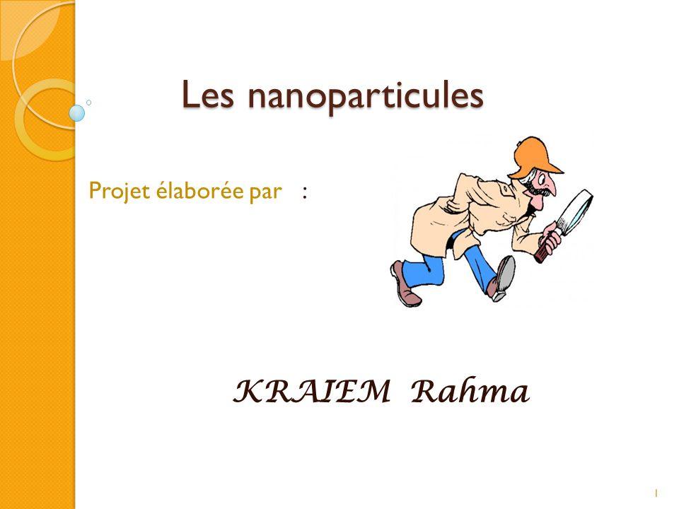 Projet élaborée par : KRAIEM Rahma