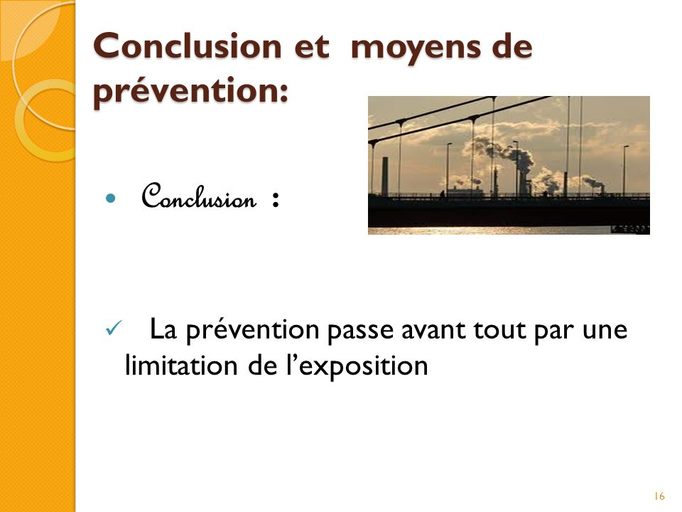 Conclusion et moyens de prévention: