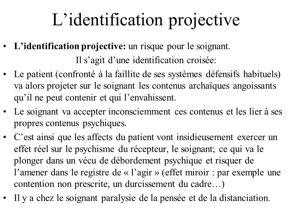 L'identification projective