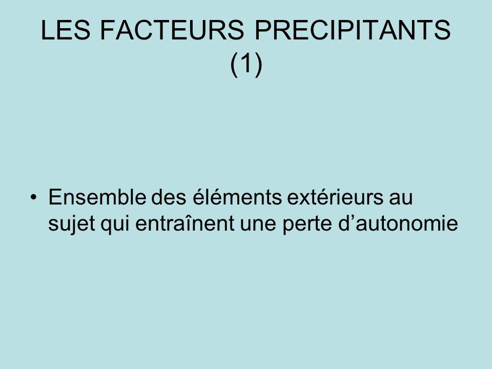LES FACTEURS PRECIPITANTS (1)