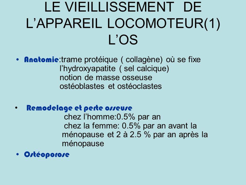 LE VIEILLISSEMENT DE L'APPAREIL LOCOMOTEUR(1) L'OS