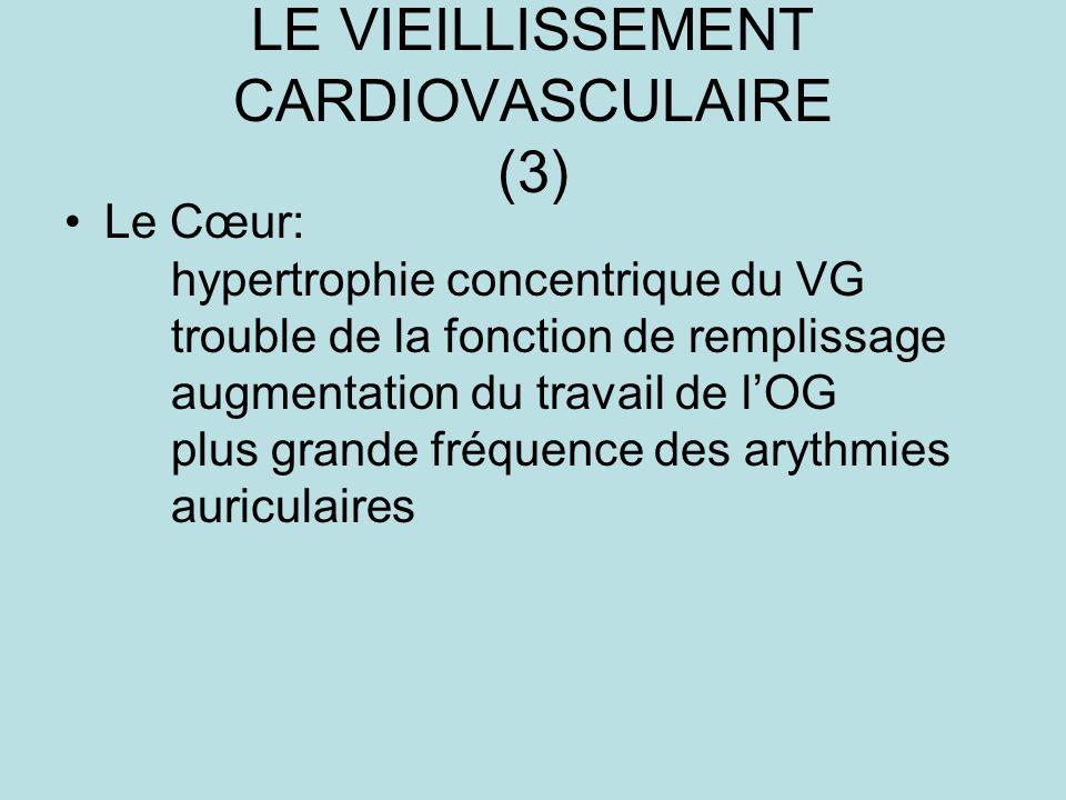 LE VIEILLISSEMENT CARDIOVASCULAIRE (3)