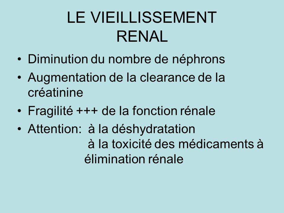 LE VIEILLISSEMENT RENAL