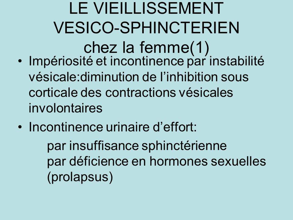 LE VIEILLISSEMENT VESICO-SPHINCTERIEN chez la femme(1)