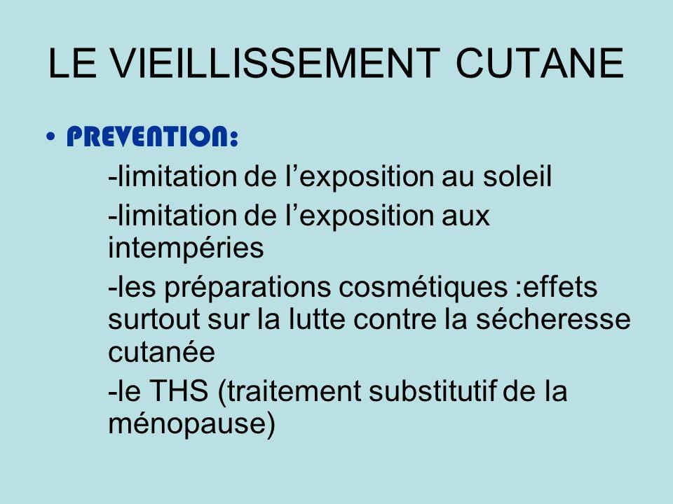 LE VIEILLISSEMENT CUTANE