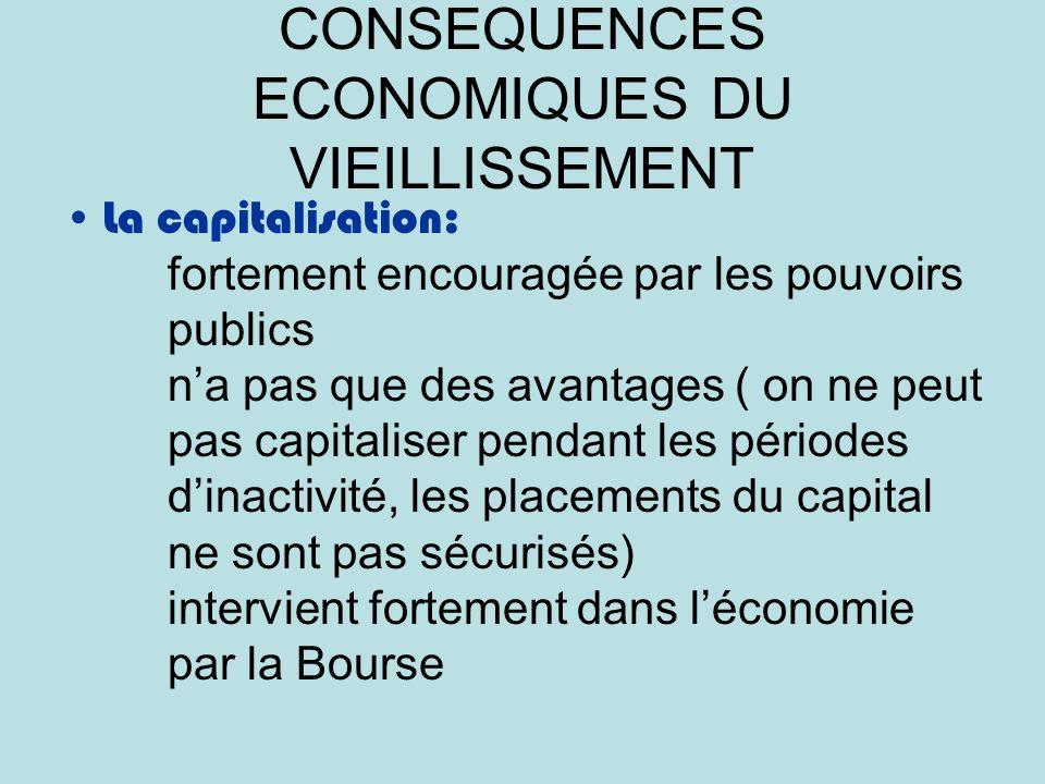 CONSEQUENCES ECONOMIQUES DU VIEILLISSEMENT