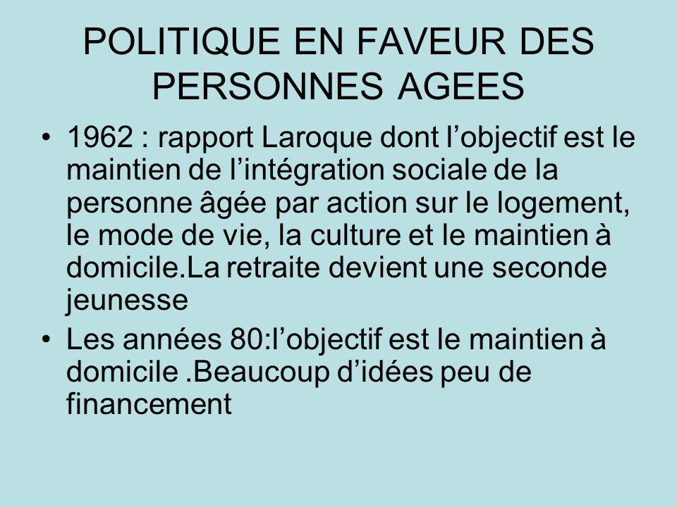 POLITIQUE EN FAVEUR DES PERSONNES AGEES