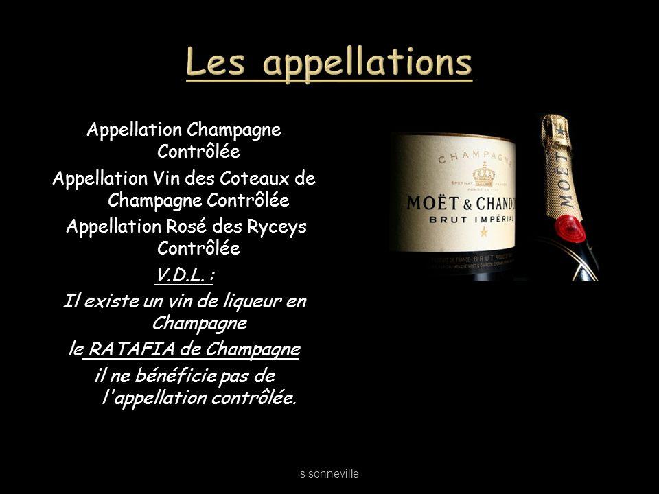 Les appellations Appellation Champagne Contrôlée