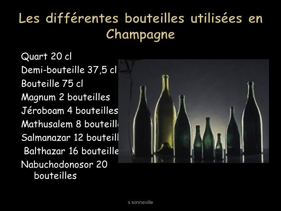 Les différentes bouteilles utilisées en Champagne