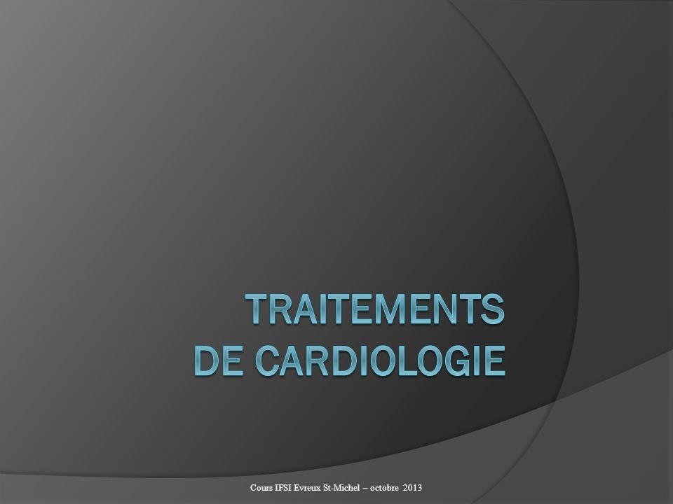 TRAITEMENTS DE CARDIOLOGIE