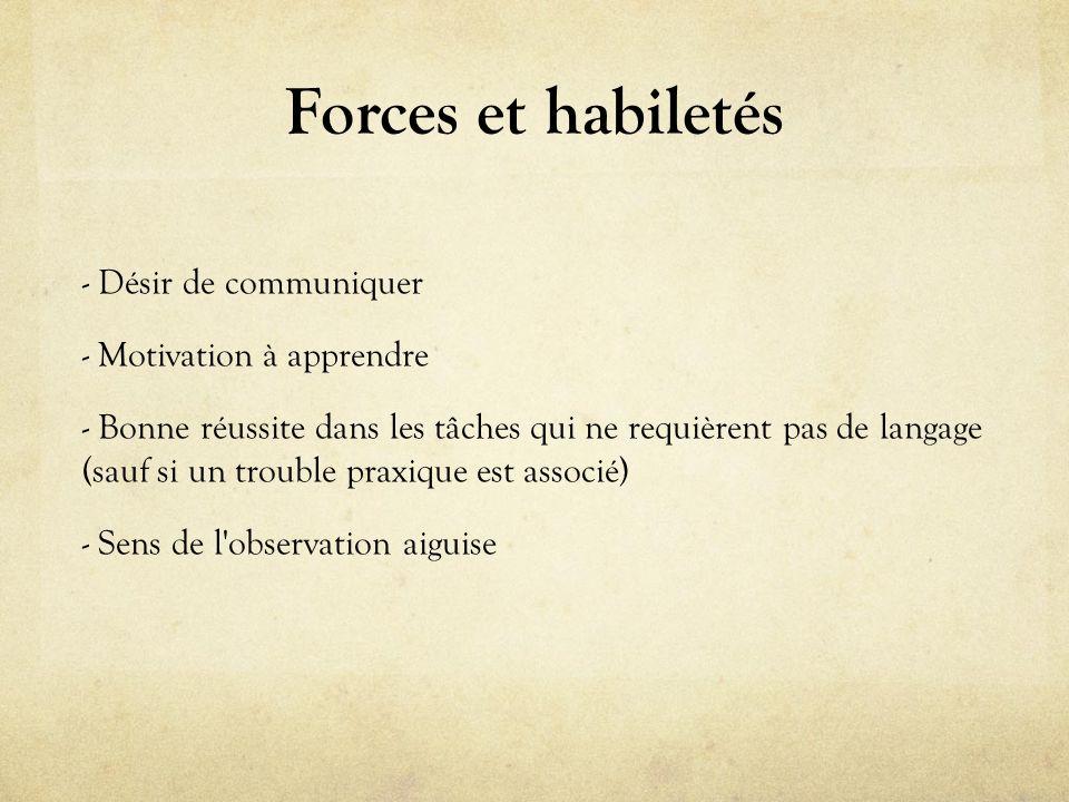 Forces et habiletés