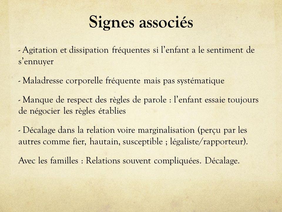 Signes associés
