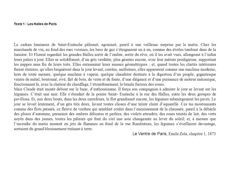 Le Ventre de Paris, Emile Zola, chapitre 1, 1873