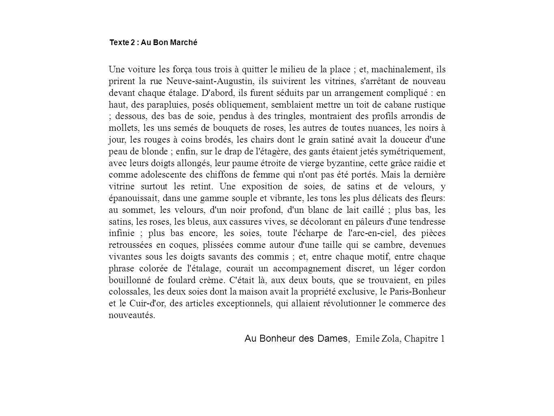 Au Bonheur des Dames, Emile Zola, Chapitre 1