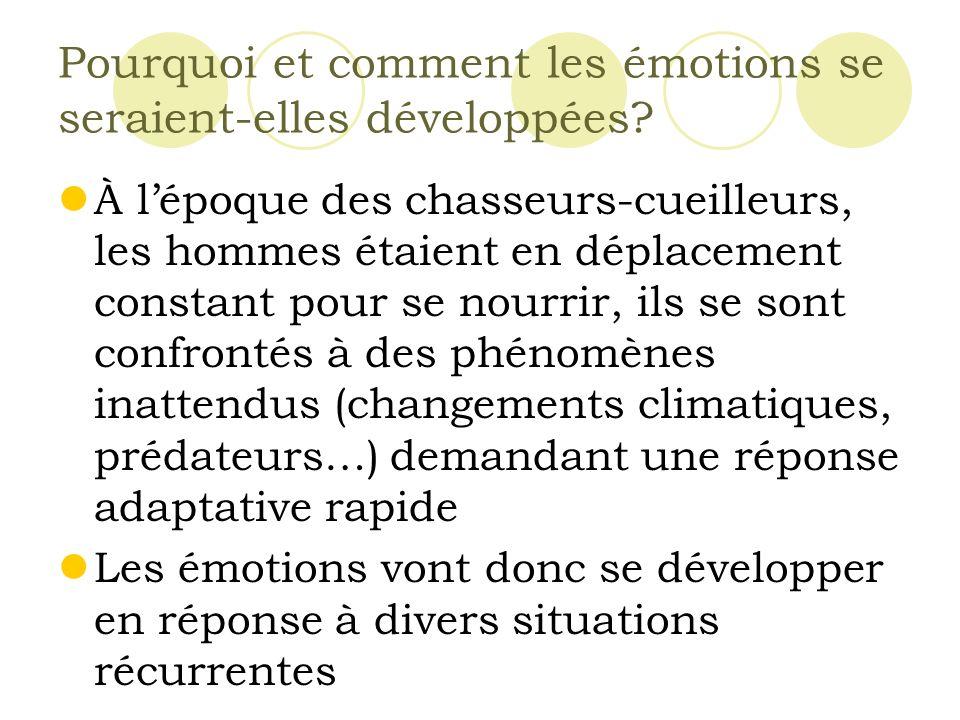Pourquoi et comment les émotions se seraient-elles développées