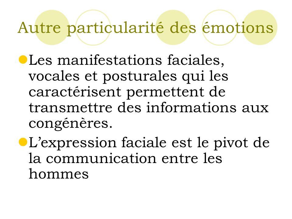 Autre particularité des émotions