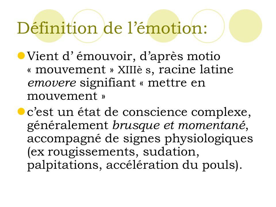 Définition de l'émotion: