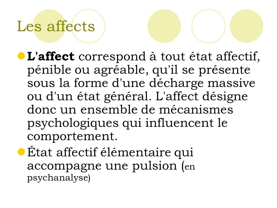 Les affects