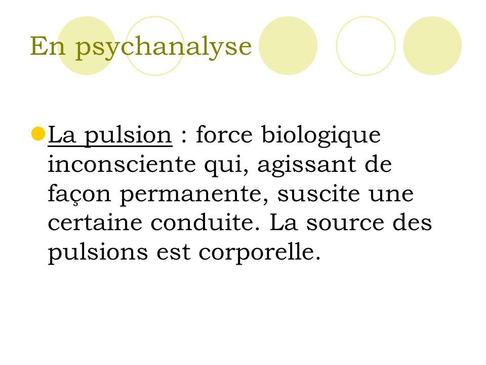 En psychanalyse