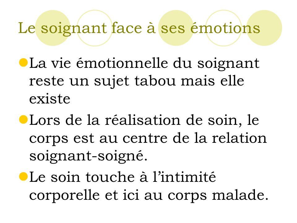 Le soignant face à ses émotions