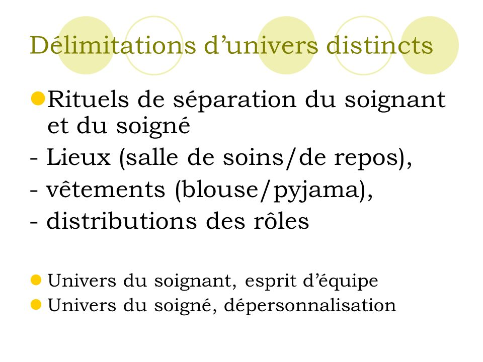 Délimitations d'univers distincts