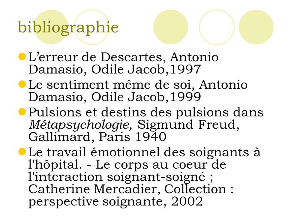 bibliographie L'erreur de Descartes, Antonio Damasio, Odile Jacob,1997