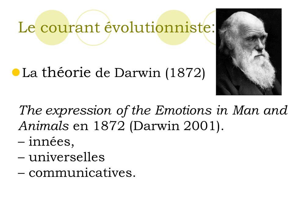 Le courant évolutionniste: