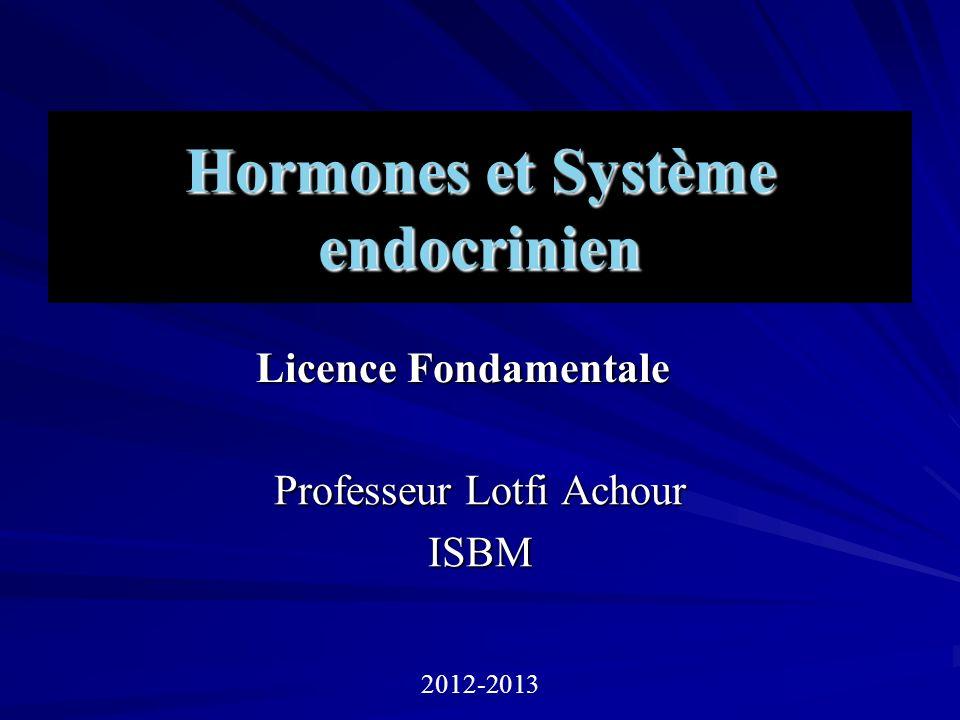 Hormones et Système endocrinien