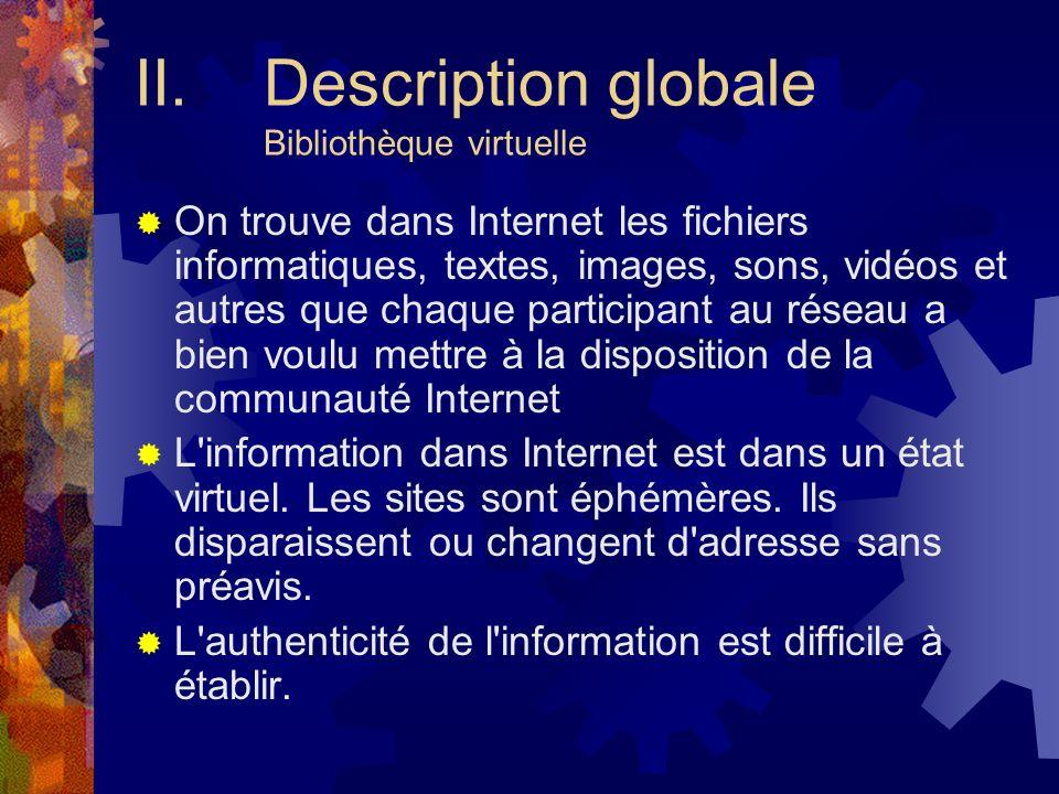 Description globale Bibliothèque virtuelle