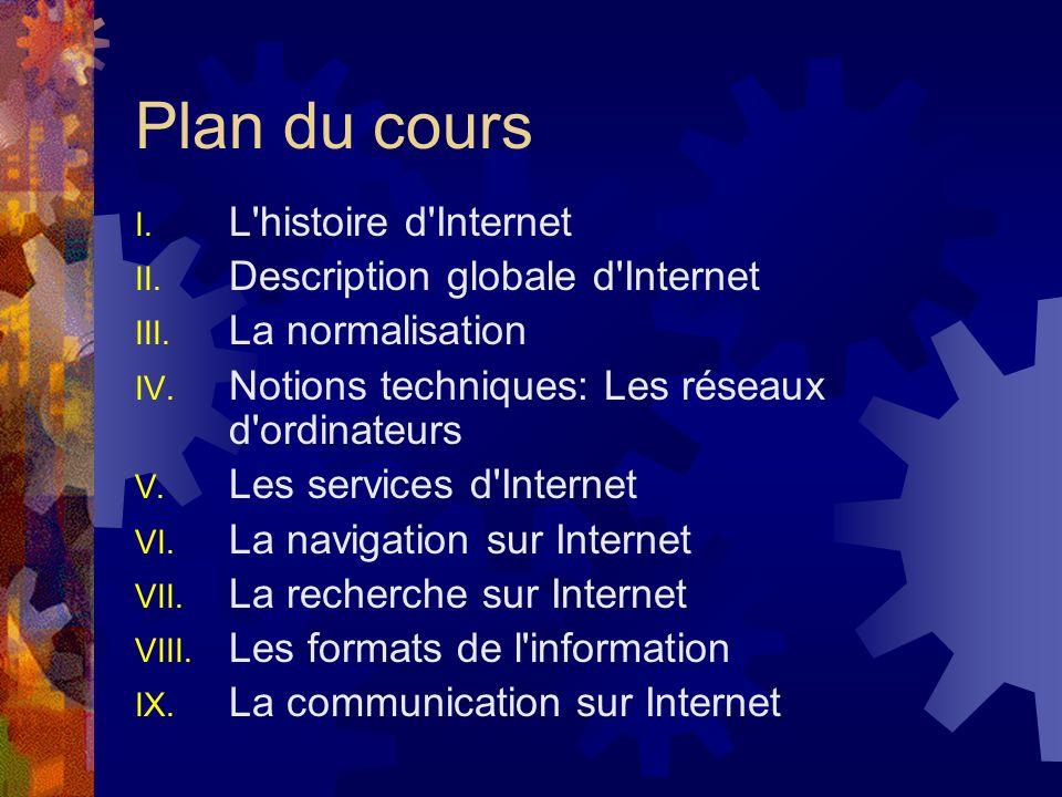 Plan du cours L histoire d Internet Description globale d Internet