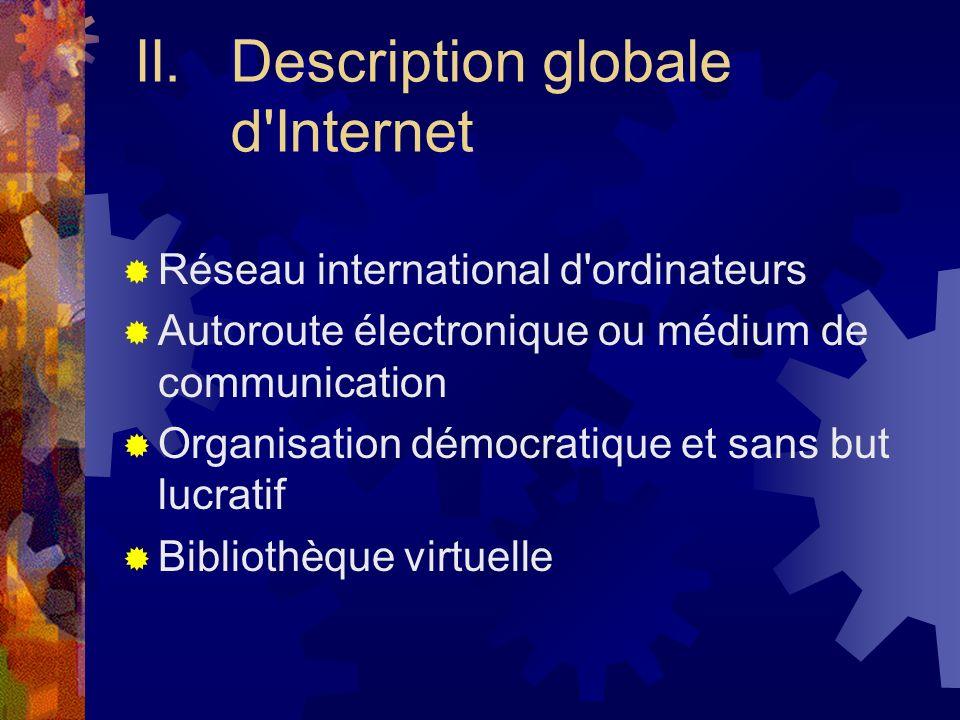 II. Description globale d Internet