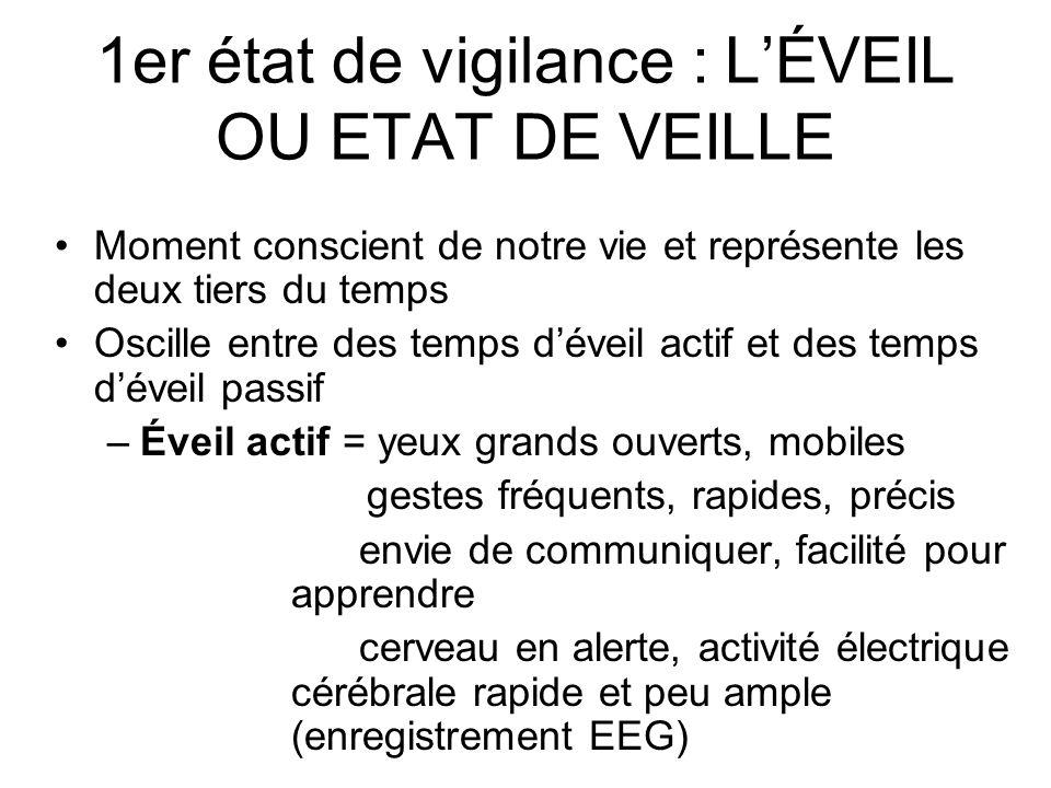 1er état de vigilance : L'ÉVEIL OU ETAT DE VEILLE