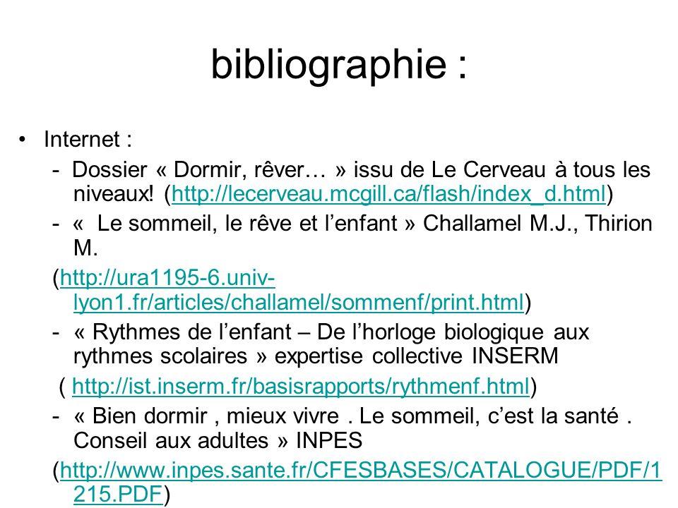 bibliographie : Internet :