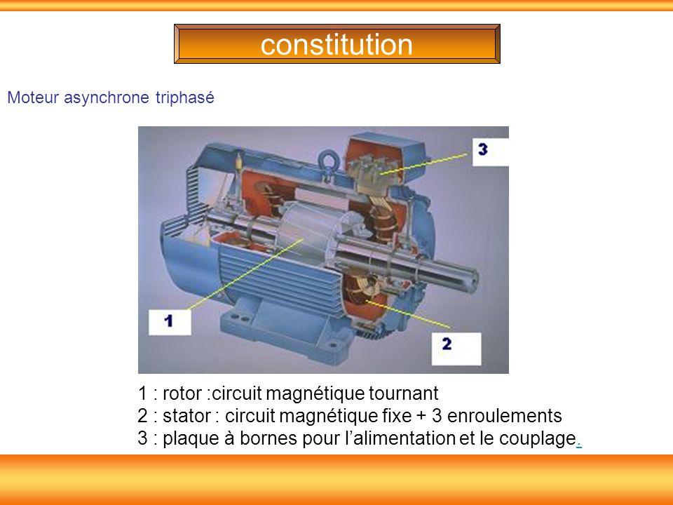 constitution Moteur asynchrone triphasé.