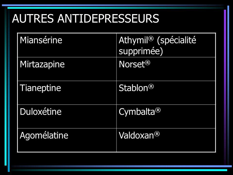 AUTRES ANTIDEPRESSEURS