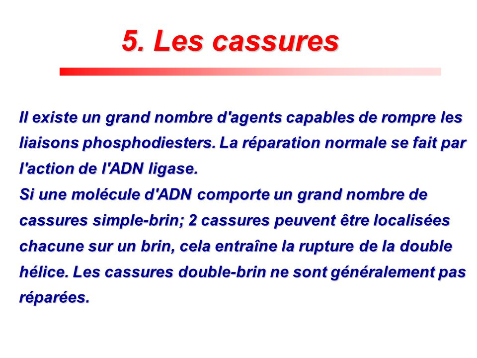 5. Les cassures