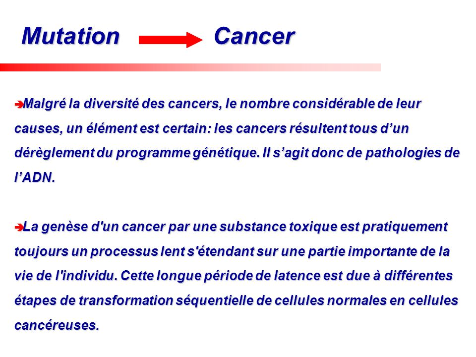 Mutation Cancer