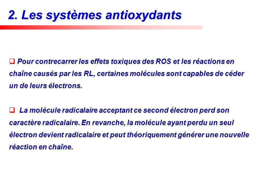 2. Les systèmes antioxydants