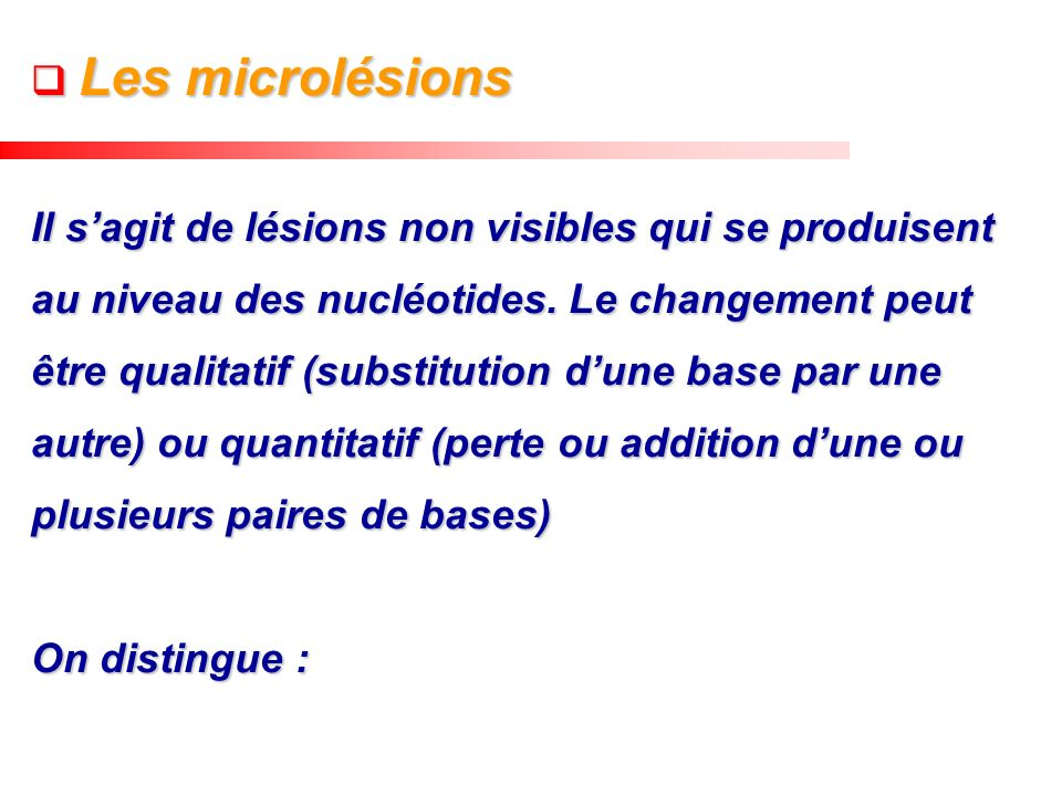 Les microlésions