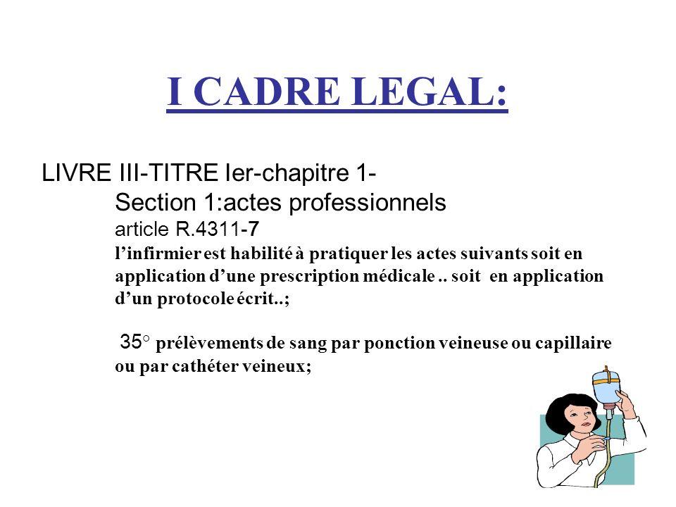 I CADRE LEGAL: