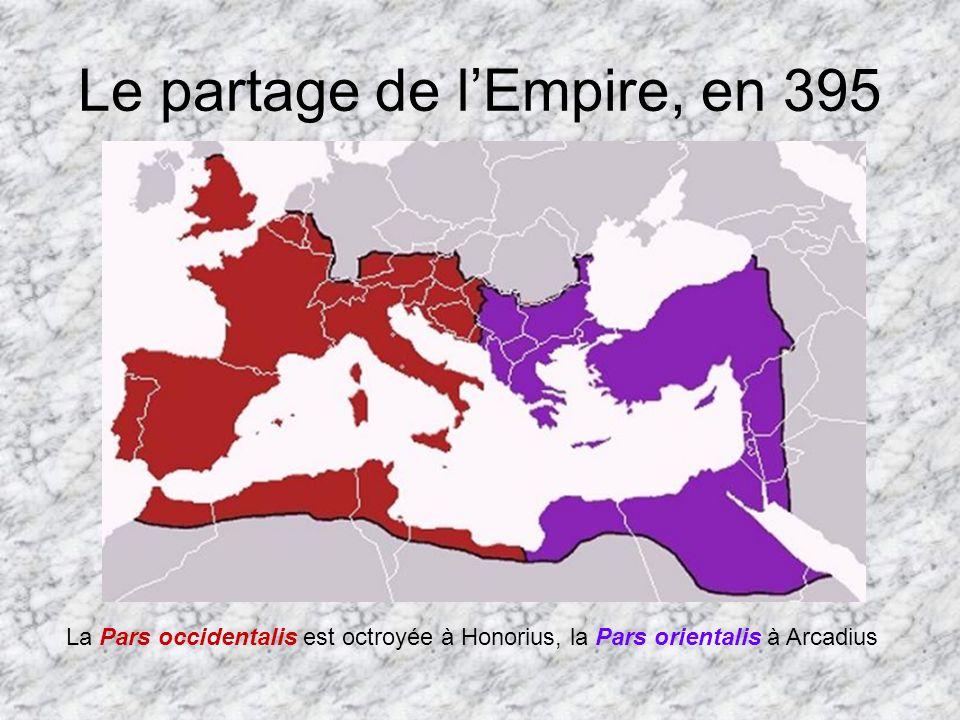 Le partage de l'Empire, en 395