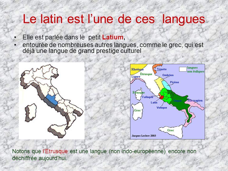 Le latin est l'une de ces langues
