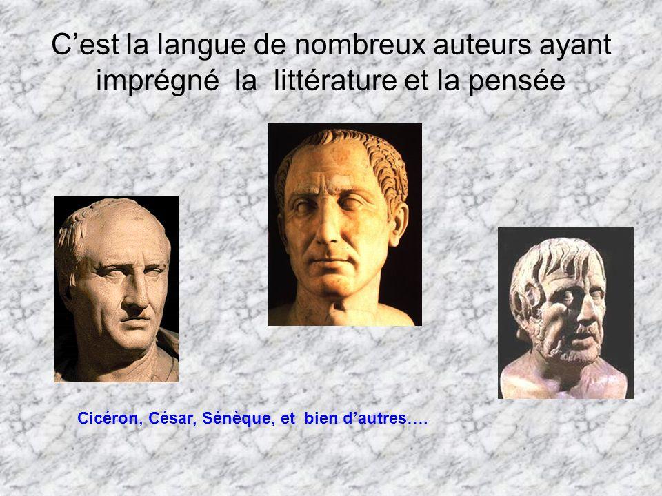C'est la langue de nombreux auteurs ayant imprégné la littérature et la pensée