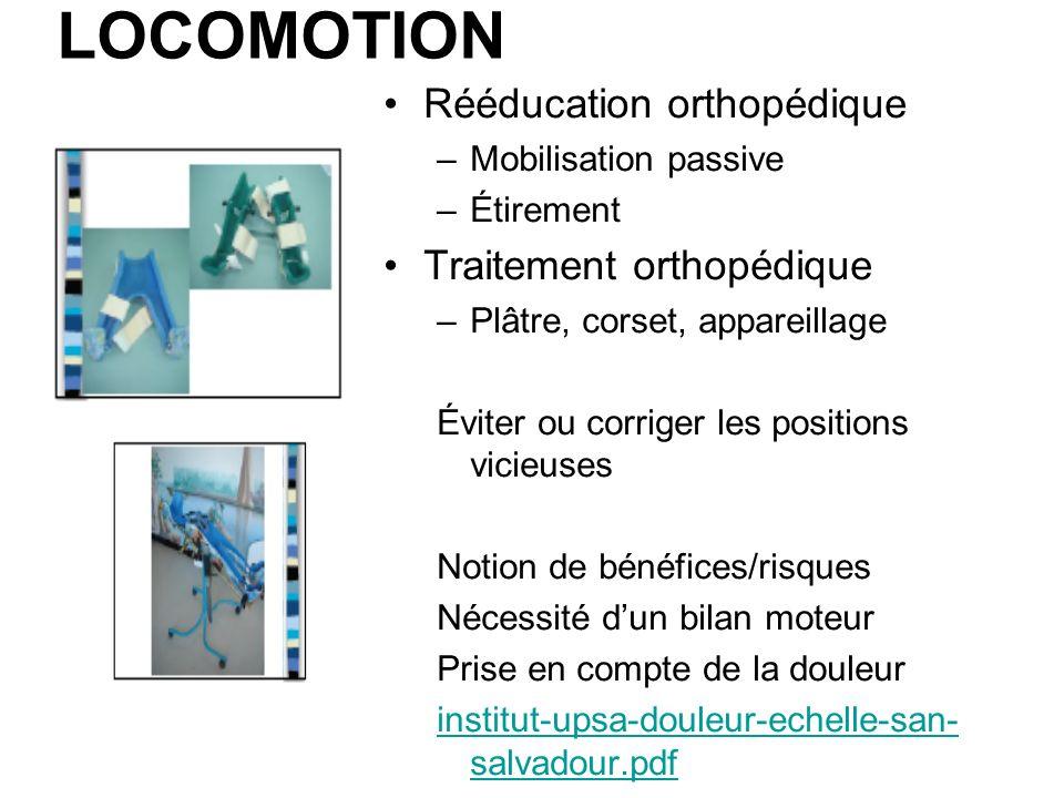 LOCOMOTION Rééducation orthopédique Traitement orthopédique