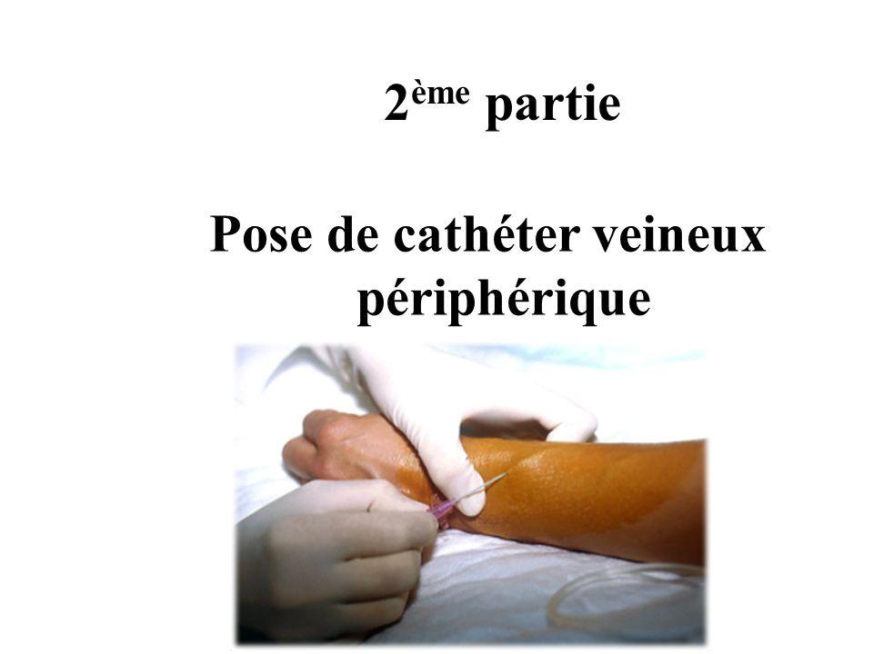 Pose de cathéter veineux périphérique